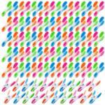 """100 pinces à linge """"Soft Grip"""" - 4 couleurs Pearl"""