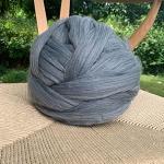 1000 g de laine à tricoter soi-même - Laine mérinos épaisse - Kaki foncé - 1 kg
