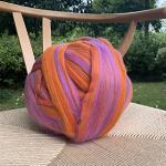 1000 g de laine à tricoter soi-même - Laine super grossière mérinos - Vert kaki - 1 kg