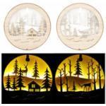 2 tableaux de Noël lumineux en bois Lunartec