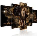 Tableaux artgeist dorés à motif lions modernes