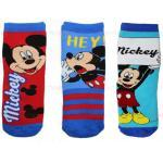 3 Paires Chaussettes antidérapantes Mickey Mouse 27-30