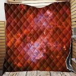 3D Couvre Lit Matelassée, Chickwin Imprimé de Galaxie Doux Microfiber Couvre-lit Couverture de lit Jeté de Lit Dessus de Lit (200x230cm,Rouge)