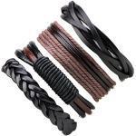4 PCS Bracelet En Cuir Vintage Tressé Multicouche Corde Bracelet pour Hommes Femmes Amitié Bracelet Ensemble Réglable