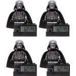 4 réveils briques Dark Vador de 15 cm LEGO