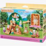 5318 - La cabane et Ambrose le bébé écureuil roux SYLVANIAN FAMILIES beige