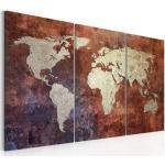 Meubles artgeist dorés imprimé carte du monde modernes