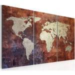 Meubles artgeist dorés imprimé carte du monde