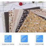 7pcs 50 50cm Literie Prédécoupée En Tissu De Coton Diy Carré Assortis Suite Dortoir(Brun)