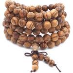 8MM 108 perles de prière Mala Bracelet Agarwood Bouddhiste Tibétain Bouddha Méditation Collier/bracelet