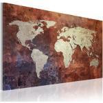 Tableaux artgeist dorés imprimé carte du monde modernes