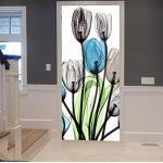 Posters blancs à motif fleurs