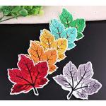 A/N 6 Leaves Multicolor Style Patch Thermocollant,Autocollant Broderies,idéal pour sur Jeans,vêtements, Veste, Sac à Dos, écharpe