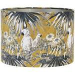 Abat-jour cylindrique imprimé perroquet ocre H21 cm Beige Light et Living