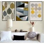 Abstrait Peintures Géométriques De Toile Scandinaves Affiches Images Murales D'art Pour Le Salon Maison Décor Non Encadré Scb58