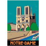 Meubles Sergeant Paper multicolores à motif Notre-Dame de Paris