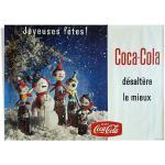 Affiche coca cola originale vintage 157x115 cm joyeuses fêtes