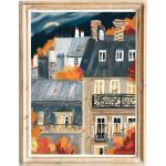 Affiche D'Automne D'Architecture Français| Bâtiments De Paris Imprimé Mur D'Automne| Art Paysager Peinture Impression La Ville Paris| Décor