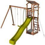 Aire de jeux pour enfant avec bac à sable et corde à grimper - HAPPY Swing & Slide 150 sans option - SOULET