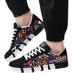 Chaussures noires à pompons en daim look casual