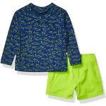 Amazon Essentials 2-Piece Long-Steeve Rashguard and Trunk Set Rash Guard, Blue Shark, 18 Months