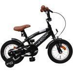 Amigo BMX Fun- Vélo Enfant pour garçons - 12 Pouces - avec Frein à Main, Frein à rétropédalage, Sonnette de vélo et stabilisateurs vélo - à partir de 3-4 Ans - Noir