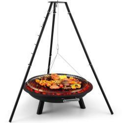 Arco Trino Grill pivotant Brasero BBQ Trépied Acier