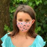 Ariel 33, Masques pour enfants lavables en Ice Coton de soie Motif panda Rose, Paquet de 2