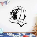 Art Design Sticker mural papier peint décoratif nom personnalisé papier peint de basket-ball chambre de bébé Art familial 28 cm X 32 cm