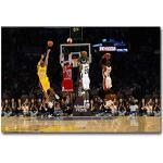 Art Mural Décoration Murale Impression Sur Toile, MVP Basketball Game Poster Kobe Bryant, Lebron James & Michael Jordan Pictures Pour Les Cadeaux Souvenirs Fans Basket-Ball, Sans Cadre,45×60cm
