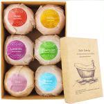 ARTIFUN Kit de Bombes de Bain Coffret Cadeau de Sels de Bain 6 Pcs pour Femmes Relaxantes aux Huiles Essentielles Naturelles Boule de Bain Moussante SPA Bubble Fizzies pour Enfants Femmes