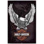 Artopweb EC21570 Harley Davidson - Eagle, Bois, Multicolore, 60x90x1,8 cm