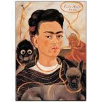 Artopweb EC21916 Frida Kahlo - Autoritratto Con Scimmia, Bois, Multicolore, 50x70x1,8 cm
