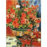 ArtPlaza Renoir Pierre-Auguste - Geraniums and cats Panneau Décoratif, Bois, Multicolore, 60 x 1.8 x 80 cmAS92735