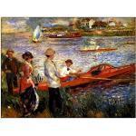 ArtPlaza Renoir Pierre-Auguste-Oarsman of Chatou Panneau Décoratif, Bois, Multicolore, 120 x 1,8 x 90 cm