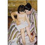ArtPlaza Renoir Pierre-Auguste-The Bath Panneau Décoratif, Bois, Multicolore, 60 x 1,8 x 90 cm