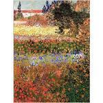 ArtPlaza Van Gogh Vincent-Flowering Garden Panneaux Decoratifs, Bois MDF, Multicolore, 60x80 Cm