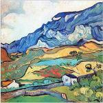 ArtPlaza Van Gogh Vincent-Les Alpilles, a Mountain Landscape Near Saint-Reimy Panneaux Decoratifs, Bois MDF, Multicolore, 30x30 Cm
