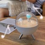 Astronaute Night Light Pour Enfants, Rechargeable Led Lampe Maternelle Avec Minuterie Et Usb De Charge, Bébé Chambre Veilleuse Blanc