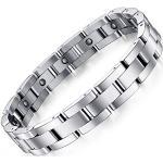 ATEIELLI Bracelet Magnetique Titane Homme Bracelet Ajustable 23cm jwb232