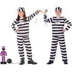 Atosa-98638 Costume-Déguisement Prisonnier 3-4, Enfants unisexes, 98638, noir, De 3 à 4 ans