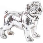 AVENUELAFAYETTE Statuette Figurine Chien Bulldog déco argenté - Couleur Argent - 19 cm