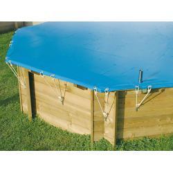 Bâche hiver pour piscine bois SunWater Ubbink 5,55 x 3,00 x 1,40 m