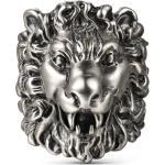 Bague avec tête de lion