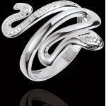Bague Balade Imaginaire - Menace Précieuse - or blanc 9 carats et diama