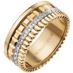 Bague Boucheron Quatre Radiant Edition petit modèle en or jaune et diamants Homme