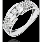 Bague Constellation - Trilogie pavée or blanc 18 carats - 0.509 carat -