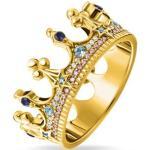 bague couronne dorée Argent sterling 925 ; plaqué or jaune 18 carats Jaune Thomas Sabo