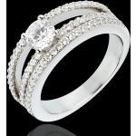 Bague de Fiançailles Destinée - Duchesse - diamant central 0.5 carat -