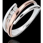 Bague de fiançailles Nid Précieux - Trio de diamants - 3 diamants - or